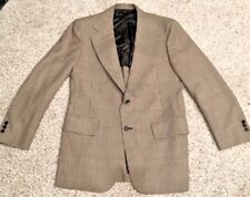 40 Hart Schaffner Marx Men's Brown Blue Tweed Blazer Sport Coat Suit Jacket #357