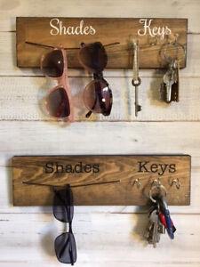 Key Hanger,Sunglasses Hanger,Sunglass rack,Rustic key hook,Wall organiser, Keys