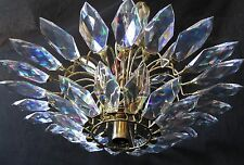 Mid-Century Modern CHANDELIER Triarch Intl. 36802FMBR Rainbow Faceted Lucite