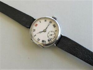 ANTIQUE ROLEX   Military WW1  Silver Case TRENCH Wristwatch c1916