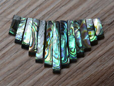 g0900 Abalone shell pendant beads set