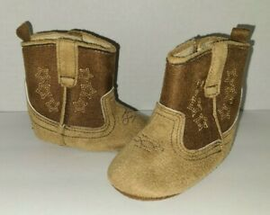 Rising Star 3-6 months Baby Cowboy Boots Shoes Textile Western Stars & Horseshoe