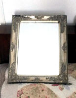 VINTAGE GOLD ORNATE WOODEN FRAME SQUARE HEAVY WALL MIRROR 20'' or 50 CM HOME DEC