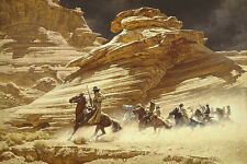 Frank McCarthy DUST STAINED POSSE, Outlaw Trail Anniversary giclee canvas #34/35