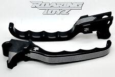 Harley Touring Custom Billet Black Brake Clutch Levers Dyna Softail 1996-2007