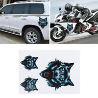 Wolf Head Decals Skull Head Adhesive Sticker For Motorcycle Car Door Helmet S&K