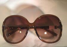 Armani Exchange Brown Amber Print Shell Sunglasses NEW