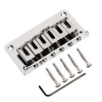 6 String Electric Guitar Bridge Hard Tail Top Load Fixed Hard Tail Parts 78*40mm