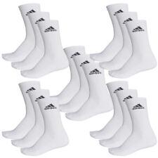 adidas Socks 3s Performance Crew HC 3 Pairs White US 9-12