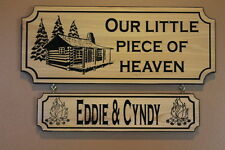 Personalized Custom Carved Wood Family Last Name Sign Couple Wedding Signs