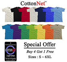 BUY 4 Get 1 Free CottonNet Round Neck T shirt Supreme Heavy Weight S-6XL Tee