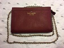 Kate Spade New York Leather Cedar Street Mini Crossbody/Handbag, Deep Plum   New