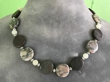 HDMD by Cyndi Necklace of Canyon Marble, Red Marble, & Italian Onyx Stone Beads
