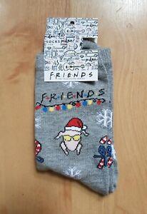 BNWT Friends tv Christmas turkey and mistletoe cotton rich socks - three pairs