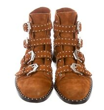 Givenchy Elegant Studded Suede Ankle Buckle Strap Ankle Boot $1396