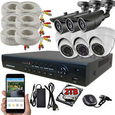Sikker Standalone 8 CH 1080P DVR 6 pcs HD 2 Megapixel Camera Security System 2TB