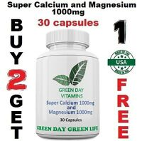 Super Calcium and Magnesium 1000 Mg Made USA Free shipping