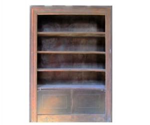 C – Antique Wooden Shelf With Metal Doors. X3283