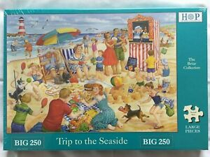 Brand New House of Puzzles BIG250 Large Piece Jigsaw Puzzle -TRIP TO THE SEASIDE