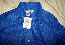 Woman's Summer Blue Coldwater Creek Blouse PXS