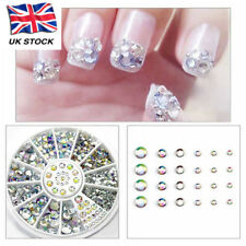 UK DIY Nail Art Gems Decoration Crystal For Nail Polish Gel Acrylic Manicure
