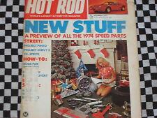 rare revue HOT ROD MAGAZINE 1973 / DRAGSTER / CUSTOM / VANS