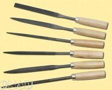 scharfes & robustes Schlüsselfeilen Set 6-tlg. mit  Holzgriff