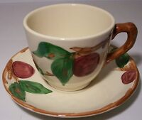 Franciscan Pottery U.S.A. Apple Cup & Saucer Set
