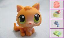 Littlest Pet Shop #86 Orange Small Kitten Cat Baby+1 FREE Access 100% Authentic