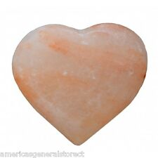 "Himalayan Salt Purifying / Massage Heart Crystal large 3"" pink use as stone"