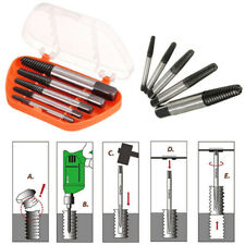 Screw Extractor Set Drill Bits Easy Out Guide Broken Damage Screws Bolt Remover