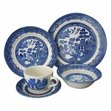 NEW Claytan Blue Willow 20-Piece Dinner Set