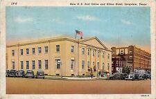 A61/ Longview Texas Tx Postcard 1945 US Post Office Hilton Hotel