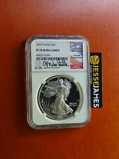 1993 P PROOF SILVER EAGLE NGC PF70 ULTRA CAMEO RARE MIKE CASTLE SIGNED KEY DATE!