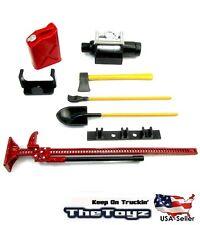 1/10 RC Rock Crawler Scale Accessory  shovel gas can axe jack  SCX10, TRX4