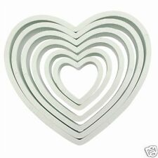 PME QUALITY HEART COOKIE CUTTER SET - 6 CUTTERS FROM 45MM TO 125MM