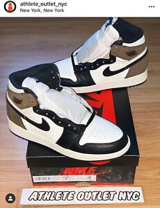 New Nike Air Jordan Retro 1 High OG Mocha Brown Kid's Size 5 Sneakers 575441-105