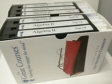 VHS The Great Courses Teaching Company Algebra II 2, 6 Tapes + 2 Guidebooks