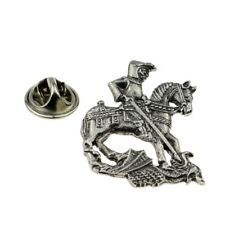 Pewter Saint George & The Dragon Pin Badge Tie Pin, Lapel Pin Badge - XWTP120