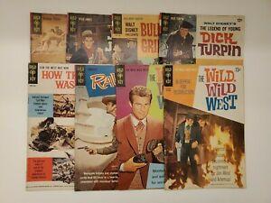 GOLD KEY SILVER AGE WESTERN COMICS WILD WILD WEST, RAWHIDE & MORE (8 issues)