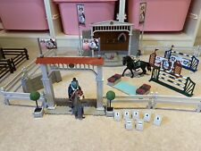 More details for schleich horse club big show arena show jumping and 2 horses, tack and rider