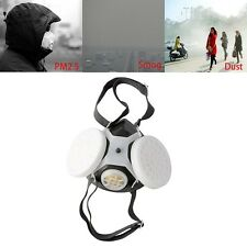 Anti-Dust Respirator Dual Gas Mask Twin Chemical Spray Paint Safety Headwear Hot