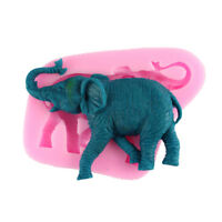 3D Elephant Animal Silicone Mold Chocolate Mold Fondant Cake Decoration Tool RS
