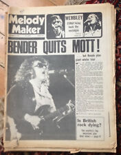 Melody Maker 1974 September 21, Mott The Hoople, Ray Davies, Tubes