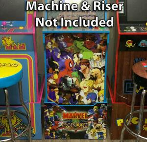 Arcade1up Cabinet Kickplate Filler Graphic - Marvel vs Capcom Sticker Decal Set