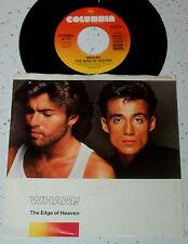Wham! 45 The Edge Of Heaven / Blue (Live In China) George Michael EX to NM
