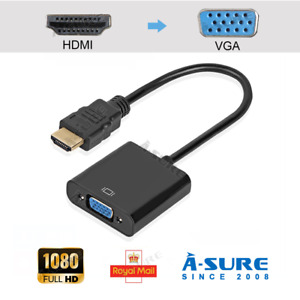 HDMI INPUT to VGA OUTPUT  HDMI to VGA Converter Adapter for PC DVD TV Monitor