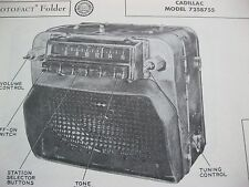 1950 CADILLAC 7258755 RADIO PHOTOFACT