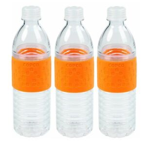 3 Pack Copco Hydra Water Bottle Non Slip Sleeve BPA Free Plastic 16.9 Oz