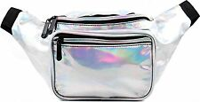 Fanny Pack - Outer Space Galaxy Rave (Holographic - Silver) by SoJourner Bags